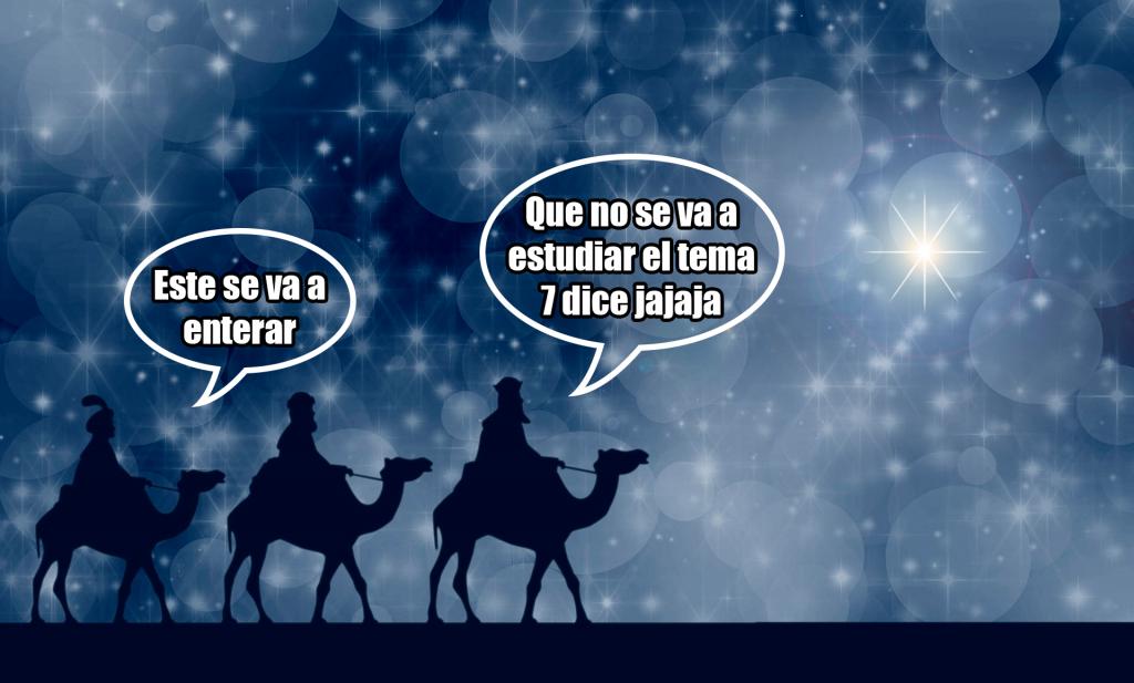Meme sobre los Reyes Magos