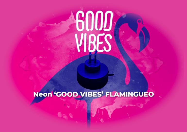 Sorteo neon 'Good Vibes' by Flamingueo