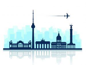 Berlin Skyline destino de Erasmus Plus