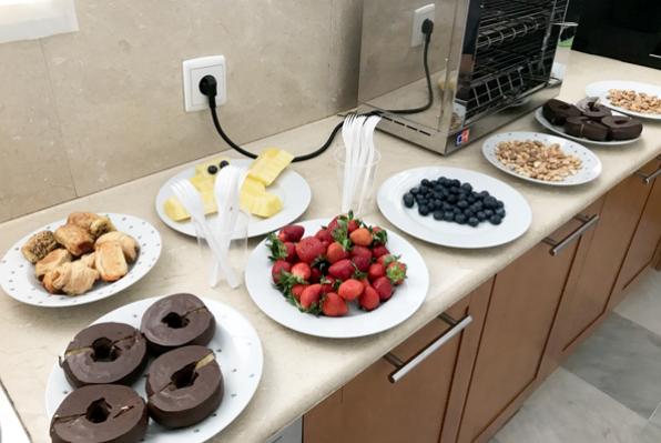 alimentacion en la oficina. Conciliacion laboral