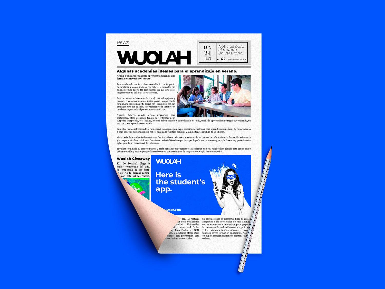 Anunciate en las noticias de wuolah